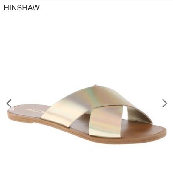 ca28583ad383 Aldo Shoes - REDUCED Aldo Gold Hinshaw Sandals