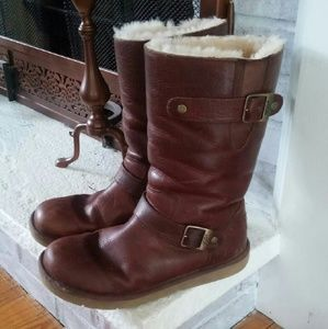 Shoes - Uggs Leather Buckle Boots