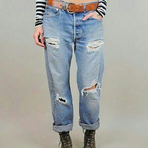 Johier Denim - Vintage Custom Distressed Boyfriend Jeans