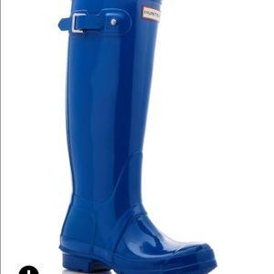 Hunter Teal gloss tall rain boots