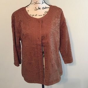 Jackets & Blazers - 3/4 sleeves brown light weight jacket