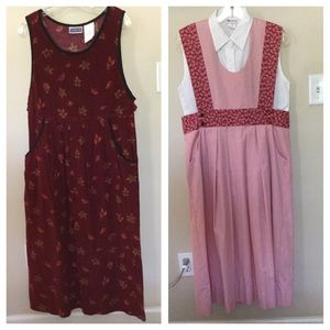 Dresses & Skirts - Vintage Womens corduroy And jumper dress 2 for 1