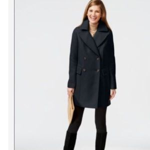 NEW!! Vince Camuto blue oversized peat coat size L