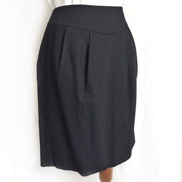 083d06e6ad5c LOFT Skirts   Black Wool Tulip Skirt   Poshmark