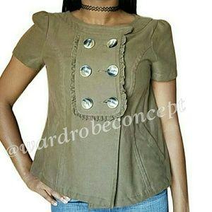 Zara Jackets & Blazers - ZARA cropped blazer olive blazer jacket