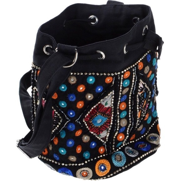 ANTIK BATIK Embroidered Bag Intricate Ethnic Paris 38cf322f5