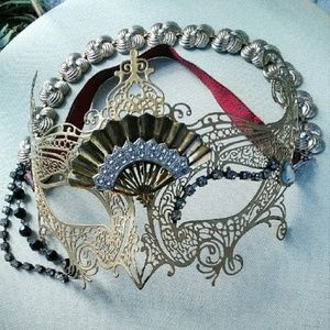 Vintage Accessories - OOAK Steampunk Halloween Masquerade Mask