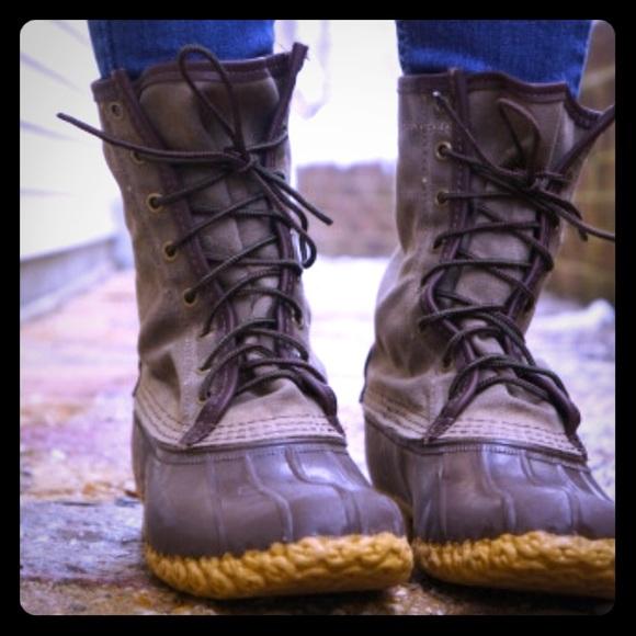 ead2c03909c L.l.bean waxed canvas woman's 7 duck boots