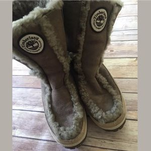 Timberland winter pull on boots fur lined Sz 10