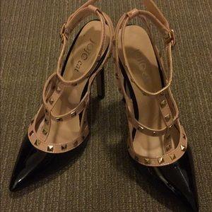 Jo-Jo Shoes - Valentino inspired 'Rockstud' T-strap Pump
