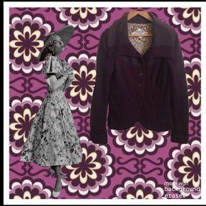 Free People Deep Purple Corduroy Jacket/Blazer