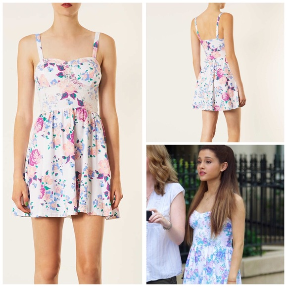 8c2b0791b6f4 Topshop Rose Floral Corset Tunic Dress. M_57f2b8e3291a35deb300e231