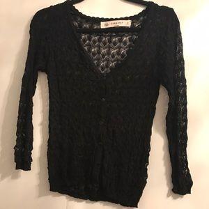 Zara Knit Lace Cardigan Small