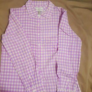 Gingham buttoned shirt