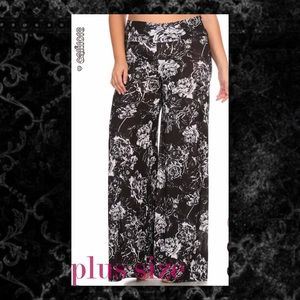 Glam Squad 2 You Pants - JUST IN🆕 Plus Sz Floral Palazzo Pants Wide Leg