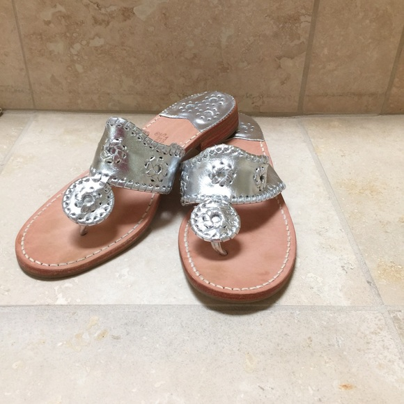 629d7a18efbbb Jack Rogers Shoes - Jack Rogers Palm Beach Sandals Silver Size 8.5