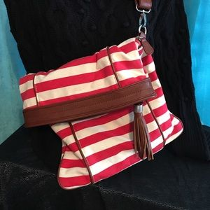 Kelly & Katie Handbags - Cute Red and White with leather strap purse.
