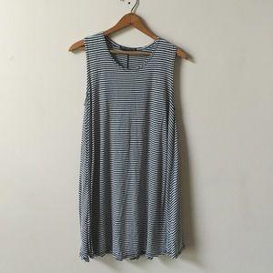 Rock rose classic Stripe Sleeveless shift dress