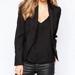 Frenchi Jackets & Blazers - Black One Button Blazer