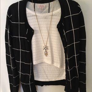 Merona Black+White Sweater