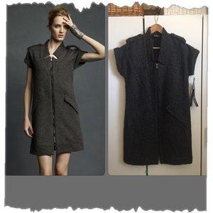 Karl Lagerfeld for Impulse Grey Tweed edgy Dress