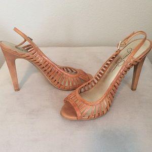 Jessica Simpson | leather heeled sandal