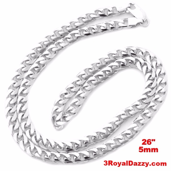 d0bfd028422 3 Royal Dazzy Accessories | Solid 925 Silver Miami Cuban Chain 5 Mm ...