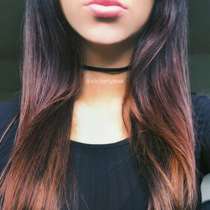 Jewelry - Thin Black Leather Choker