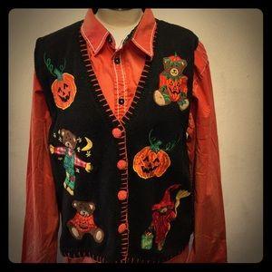 🐻🎃Vintage Halloween Bear Sweater Vest 🐻🎃 17
