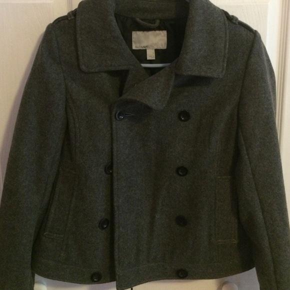 Melton Wool Navy Pea Coat The 32
