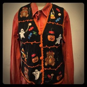 🎃🐻Vintage Halloween Sweater Vest 🐻🎃 10