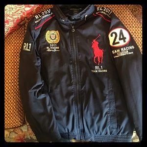 Zippered Jacket Hoody By Lauren Ralph Racer W Polo F1JclK