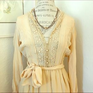 Silk Vintage Lace dress