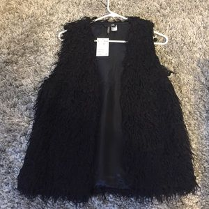Black fashion vest