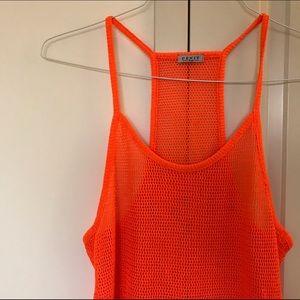 Neon Orange Tank / Coverup