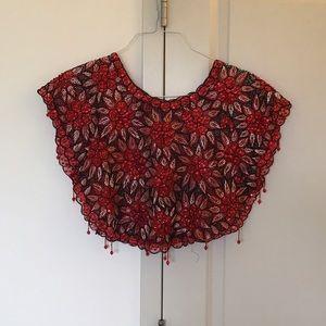 Vintage Red Sequin Crop