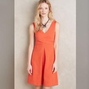 Anthropologie sleeveless v neck dress