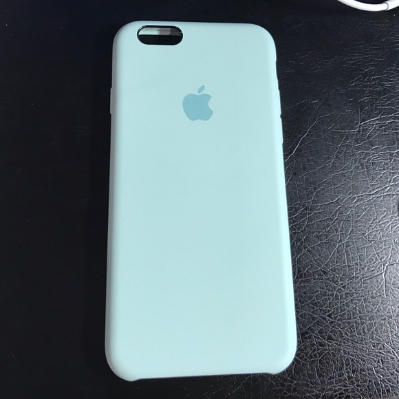 release date: 2826d ad3be Light blue/seafoam iPhone 6/6s silicone case.