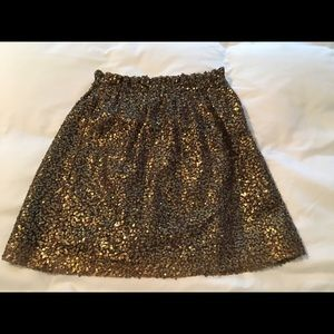 Jcrew sequin mini skirt