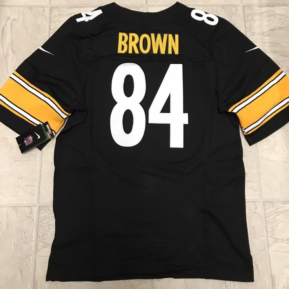 check out 9a489 41ebb Pittsburgh Steelers Antonio Brown men's jersey Boutique