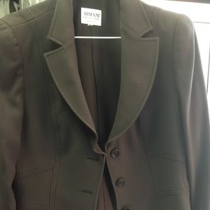 Armani brown suit women's size 12