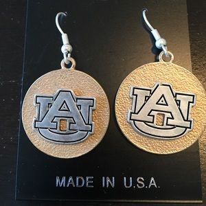Auburn Pierced Earrings. Gold/Silver and Blue tone