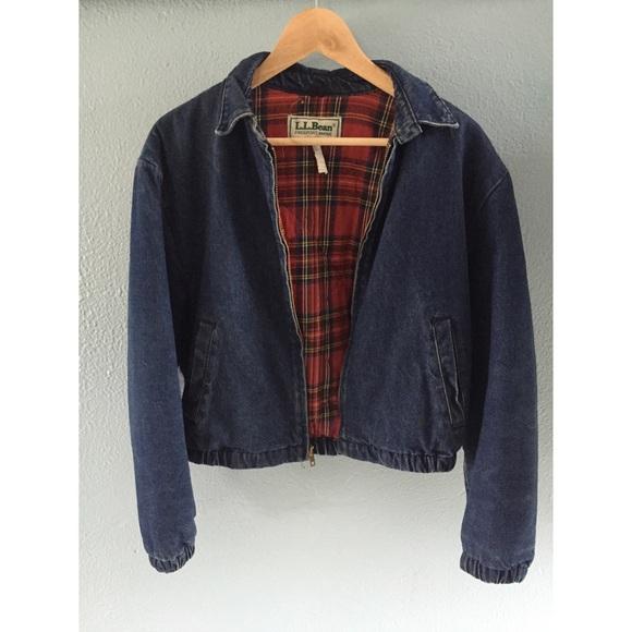 362a51846a2 L.L. Bean Jackets   Blazers - VINTAGE LL BEAN    Flannel Lined Jean Jacket