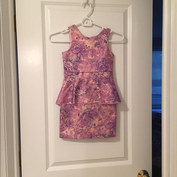 33442f45ca3 Ruum Pink Flower Print Dress Girls