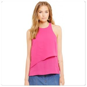 WAYF Tops - NWT, WAYF, Pink Overlay Sleeveless Top!