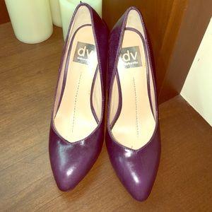 "dolce vita purple 4"" pumps, size 6"