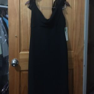 Full length bridesmaid dress; size 10; black