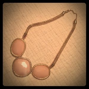 Rose gold necklace with blush pink stones