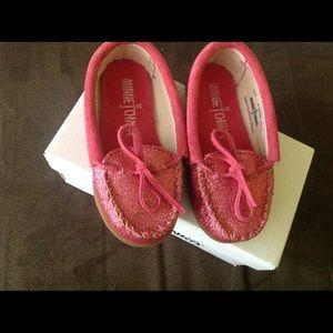 Minnetonka Other - Minnetonka pink moccasins... Brand new!