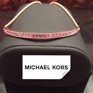 NWT Michael Kors Pavé Slider Bracelet